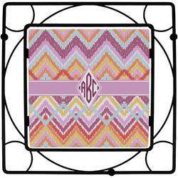 Ikat Chevron Square Trivet (Personalized)