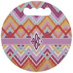 Ikat Chevron Stadium Cushion (Round) (Personalized)