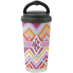 Ikat Chevron Stainless Steel Coffee Tumbler (Personalized)