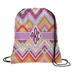 Ikat Chevron Drawstring Backpack (Personalized)