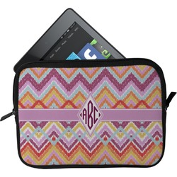 Ikat Chevron Tablet Case / Sleeve (Personalized)