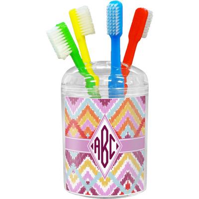 Ikat Chevron Toothbrush Holder (Personalized)