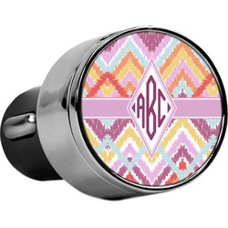 Ikat Chevron USB Car Charger (Personalized)