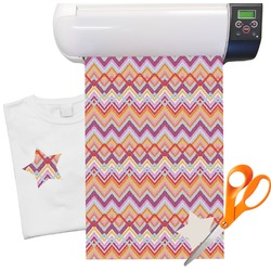 "Ikat Chevron Heat Transfer Vinyl Sheet (12""x18"")"