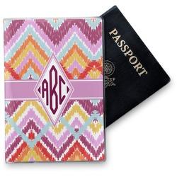 Ikat Chevron Vinyl Passport Holder (Personalized)