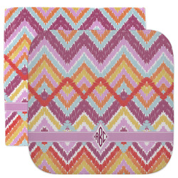 Ikat Chevron Facecloth / Wash Cloth (Personalized)