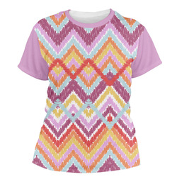 Ikat Chevron Women's Crew T-Shirt (Personalized)