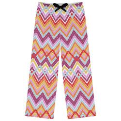Ikat Chevron Womens Pajama Pants (Personalized)