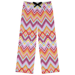 Ikat Chevron Womens Pajama Pants - M (Personalized)