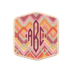 Ikat Chevron Genuine Maple or Cherry Wood Sticker (Personalized)