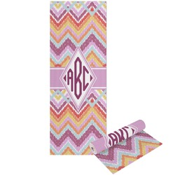 Ikat Chevron Yoga Mat - Printed Front and Back (Personalized)