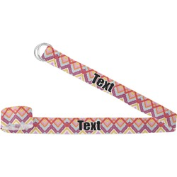 Ikat Chevron Yoga Strap (Personalized)