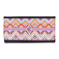 Ikat Chevron Leatherette Ladies Wallet (Personalized)