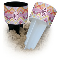 Ikat Chevron Beach Spiker Drink Holder (Personalized)