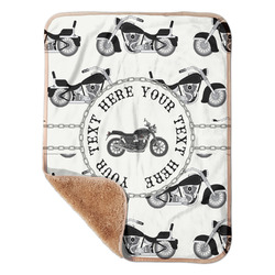 """Motorcycle Sherpa Baby Blanket 30"""" x 40"""" (Personalized)"""