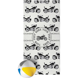 Motorcycle Beach Towel (Personalized)