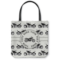 Motorcycle Canvas Tote Bag (Personalized)