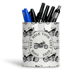 Motorcycle Ceramic Pen Holder