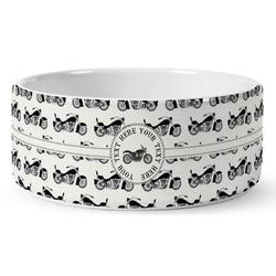Motorcycle Ceramic Pet Bowl (Personalized)