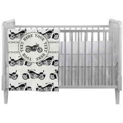 Motorcycle Crib Comforter / Quilt (Personalized)