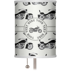 """Motorcycle 7"""" Drum Lamp Shade (Personalized)"""