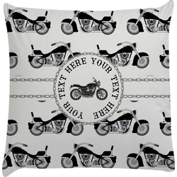 Motorcycle Decorative Pillow Case (Personalized)