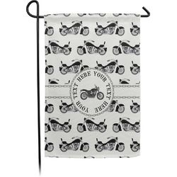 Motorcycle Single Sided Garden Flag (Personalized)