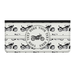 Motorcycle Genuine Leather Checkbook Cover (Personalized)