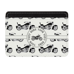 Motorcycle Genuine Leather Front Pocket Wallet (Personalized)