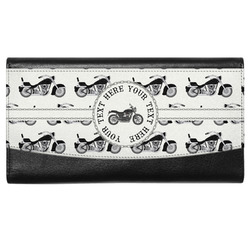 Motorcycle Genuine Leather Ladies Wallet (Personalized)