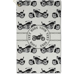 Motorcycle Golf Towel - Full Print - Small w/ Name or Text