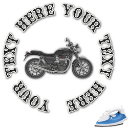 Motorcycle Graphic Iron On Transfer (Personalized)