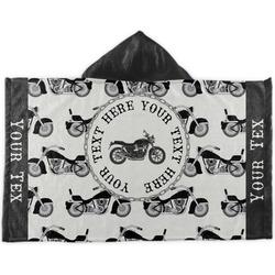 Motorcycle Kids Hooded Towel (Personalized)