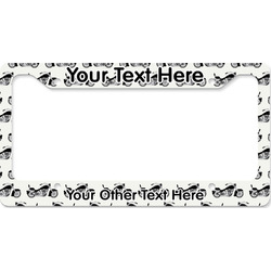 Motorcycle License Plate Frame (Personalized)