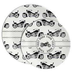 Motorcycle Melamine Plate (Personalized)