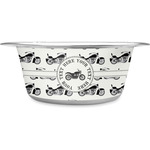 Motorcycle Stainless Steel Dog Bowl (Personalized)