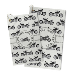 Motorcycle Microfiber Golf Towel (Personalized)
