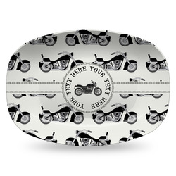 Motorcycle Plastic Platter - Microwave & Oven Safe Composite Polymer (Personalized)