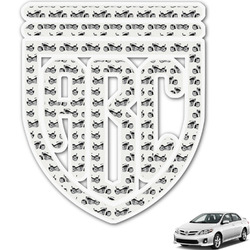 Motorcycle Monogram Car Decal (Personalized)
