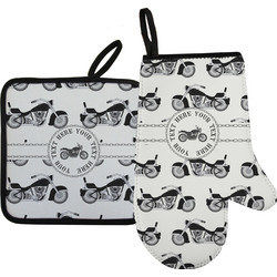 Motorcycle Oven Mitt & Pot Holder (Personalized)