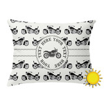 Motorcycle Outdoor Throw Pillow (Rectangular) (Personalized)
