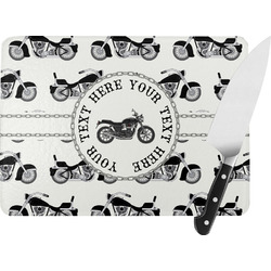 Motorcycle Rectangular Glass Cutting Board (Personalized)