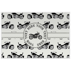 Motorcycle Laminated Placemat w/ Name or Text