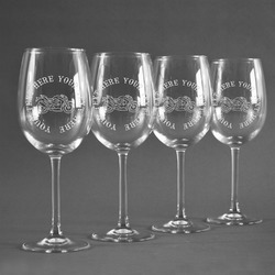 Motorcycle Wine Glasses (Set of 4) (Personalized)