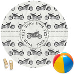 Motorcycle Round Beach Towel (Personalized)