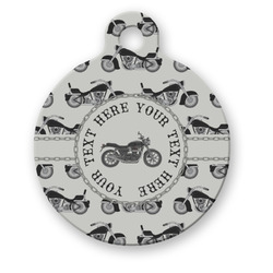 Motorcycle Round Pet Tag (Personalized)