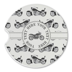 Motorcycle Sandstone Car Coasters (Personalized)