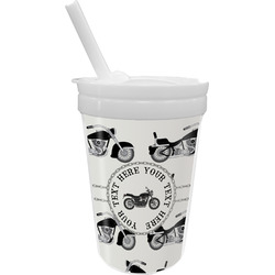Motorcycle Sippy Cup with Straw (Personalized)