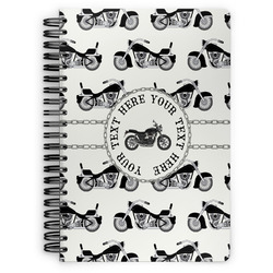 Motorcycle Spiral Bound Notebook (Personalized)