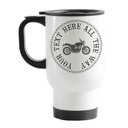 Motorcycle Stainless Steel Travel Mug with Handle